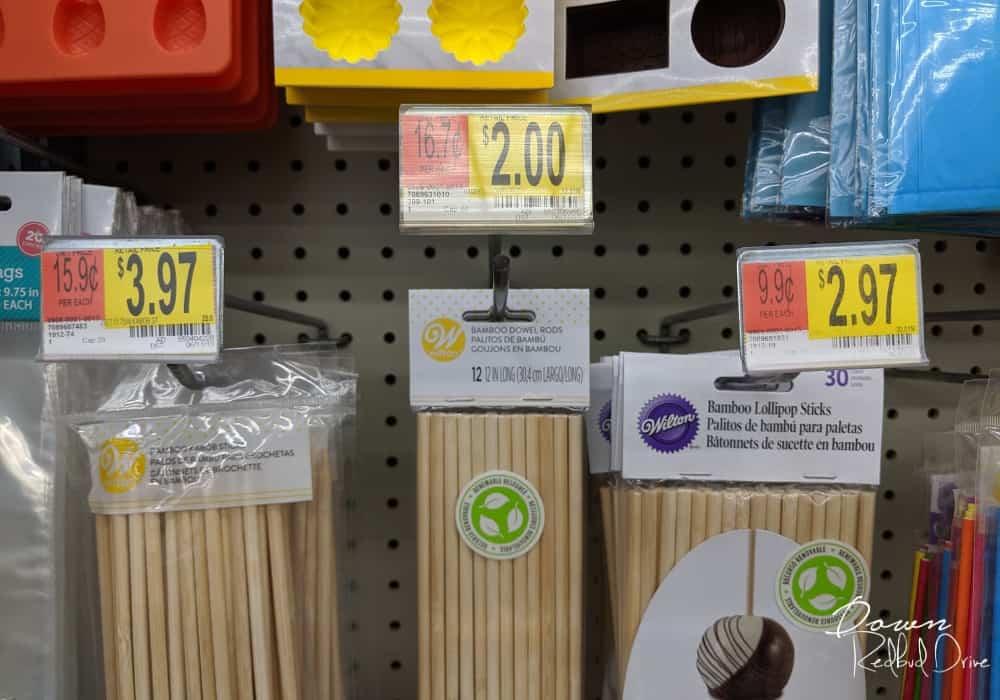 bamboo dowel cake rods