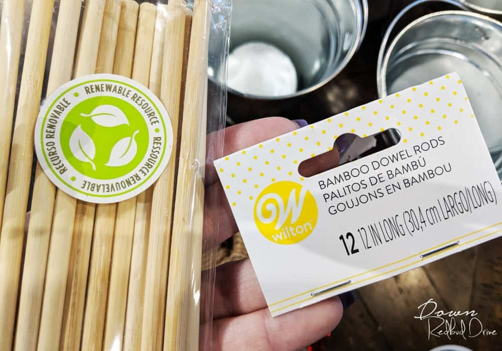 label for cake dowel rods
