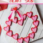 Wooden Heart Valentine Sign