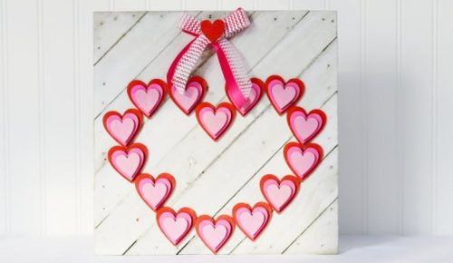 Wooden Heart Valentine Sign