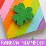 Rainbow Shamrock Art
