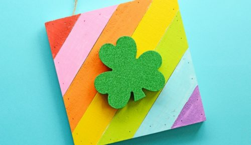 rainbow shamrock art