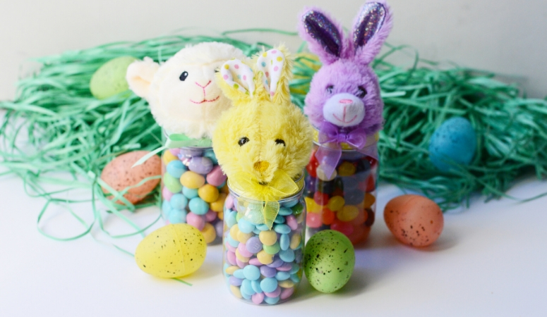 Easter Candy Jars DIY