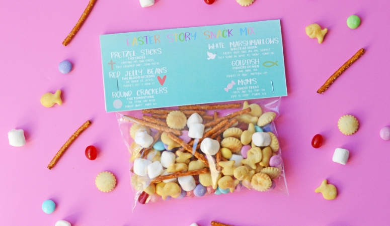 Easter Story Snack Mix