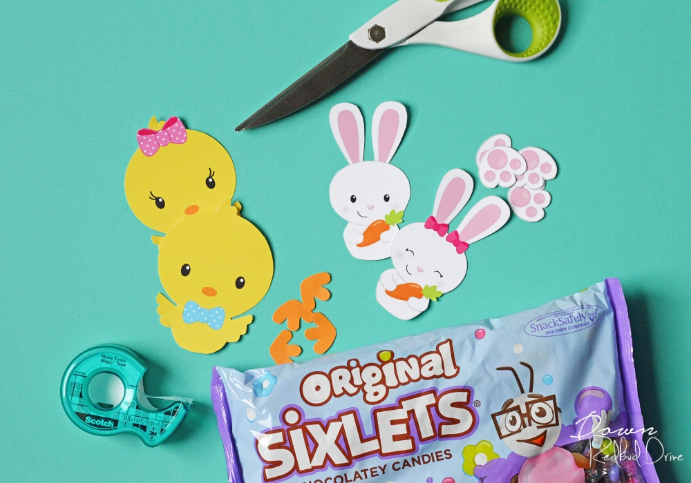 supplies needed for making Sixlet Bunnies and Chicks
