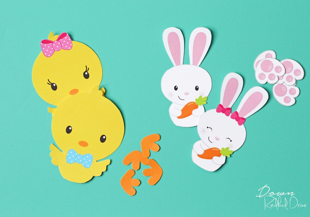 Sixlet Bunnies and Chicks printables