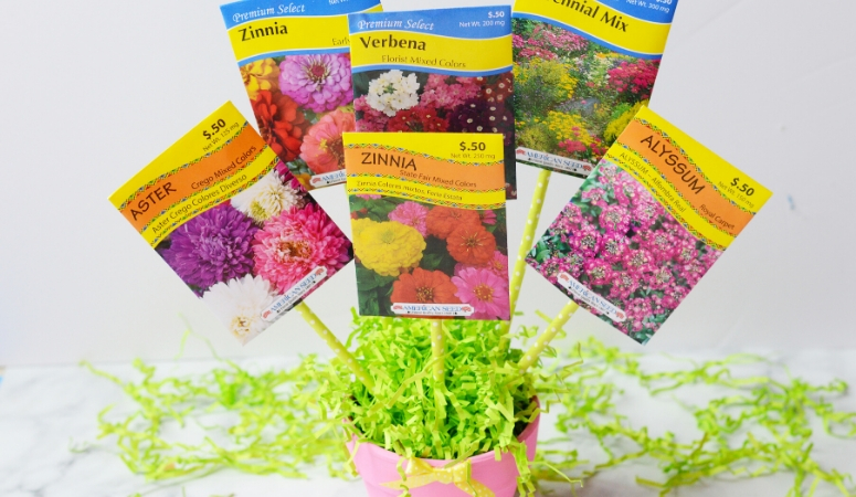 DIY Seed Bouquet Gift