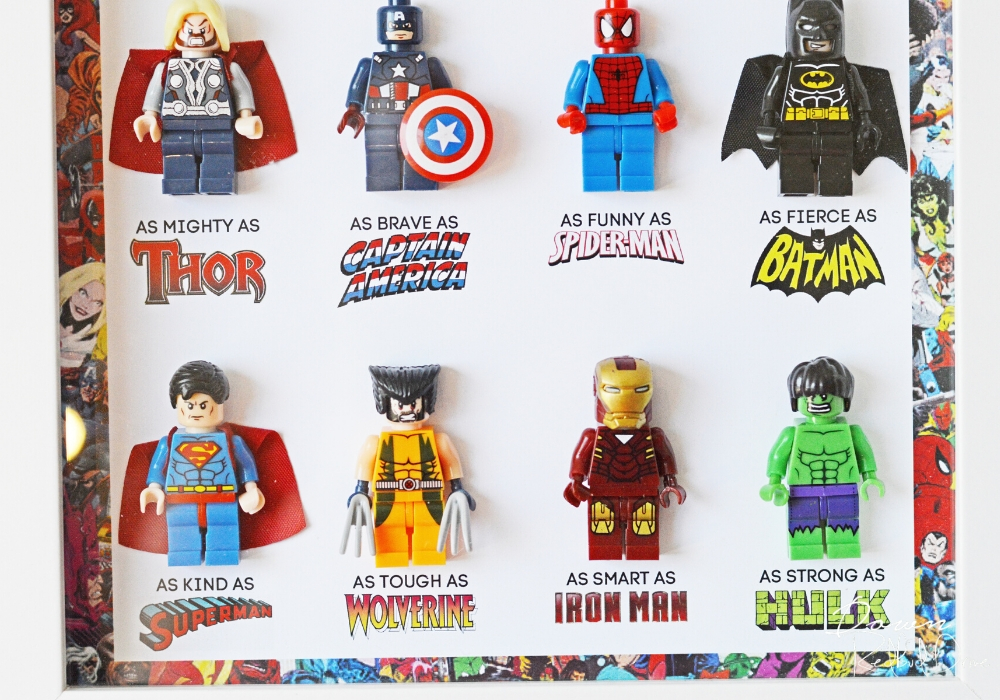 father's day superhero sayings with lego minifigures
