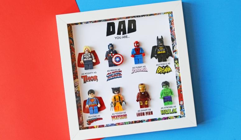 DIY Father's Day Superhero Shadowbox