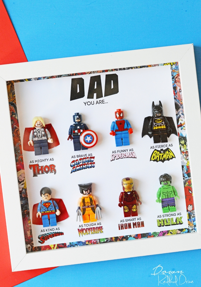Father's Day Superhero Shadowbox