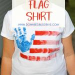 Hand Print American Flag Shirt