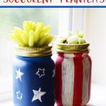 Patriotic Succulent Planters DIY