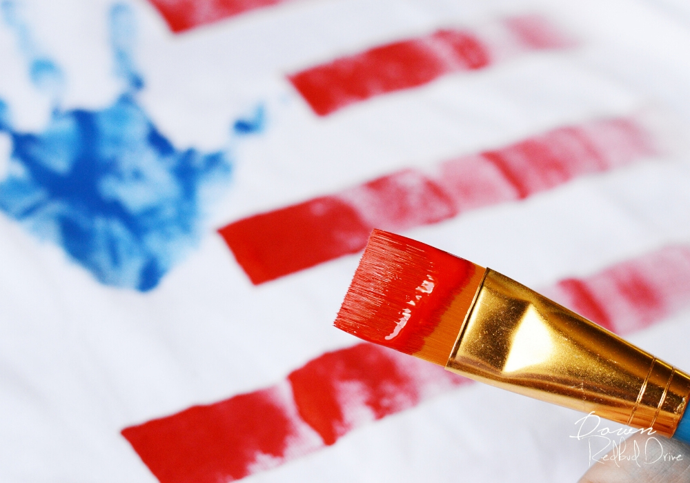 Hand Print American Flag Shirts