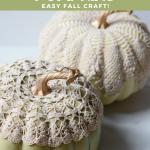 DIY Doily Pumpkins