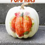DIY Napkin Pumpkins