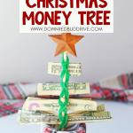 Money Christmas Tree Gift DIY