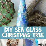 Sea Glass Christmas Tree DIY