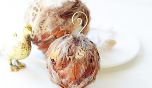 Feather Ornament DIY featured image.
