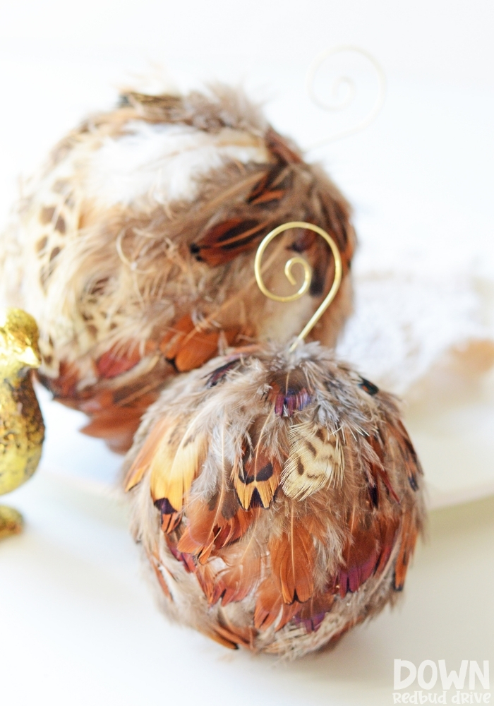 Feather Ornament DIY tall image.