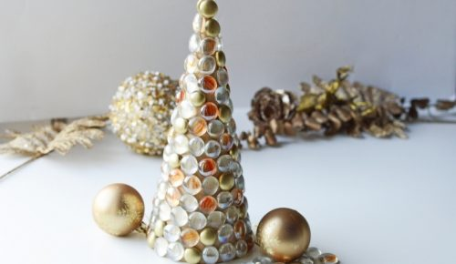 Glass gem Christmas tree featured image.