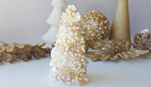 Jeweled Christmas Tree DIY featured image.