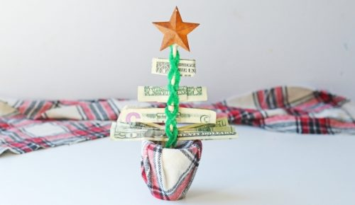 Money Christmas Tree Gift DIY Featured Image
