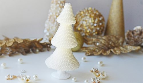 Pearl Christmas Tree DIY featured image.