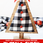 DIY Wood and Fabric Christmas Trees