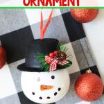 Snowman Ornament DIY