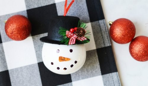 Snowman Ornament DIY featured image.