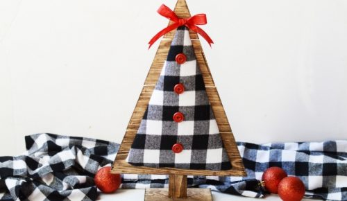 Wood and Fabric Christmas Tree featured image.