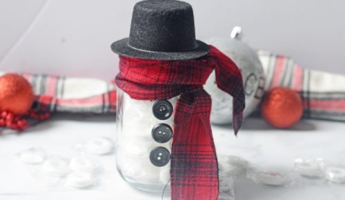 DIY Lifesaver Snowman Gift featured image.