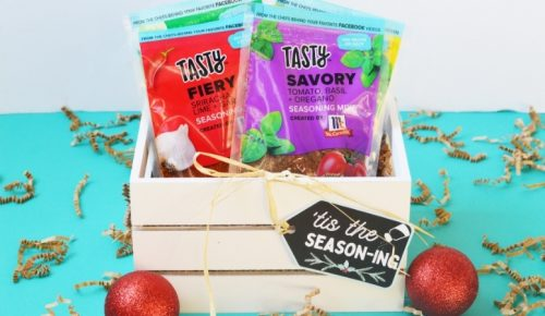 Tis the seasoning gift idea with free printable tag.