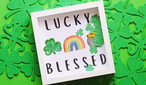 DIY lucky blessed art featured image.