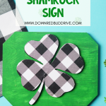 DIY Buffalo Plaid Shamrock Sign