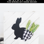 DIY Buffalo Plaid Easter Sign