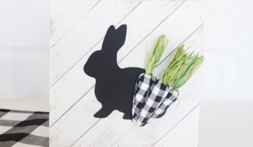 DIY Buffalo Plaid Easter Sign featured image