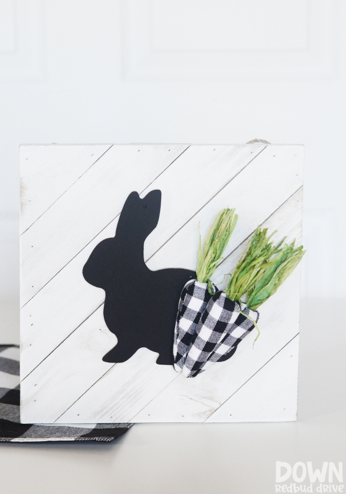 DIY Buffalo Plaid Easter Sign main tall image