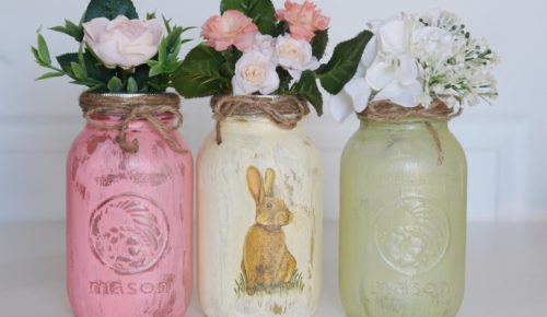 DIY Easter Napkin Jars Featured Image