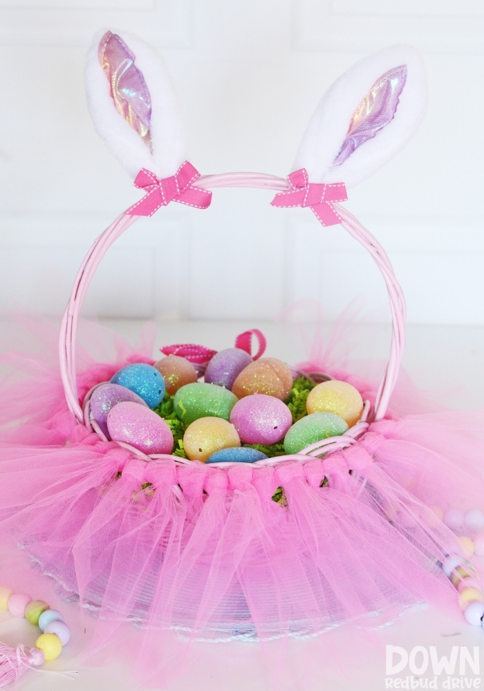 DIY tutu Easter basket main tall image