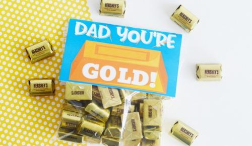 DIY Father's Day Gold Candy Gift Featured Image