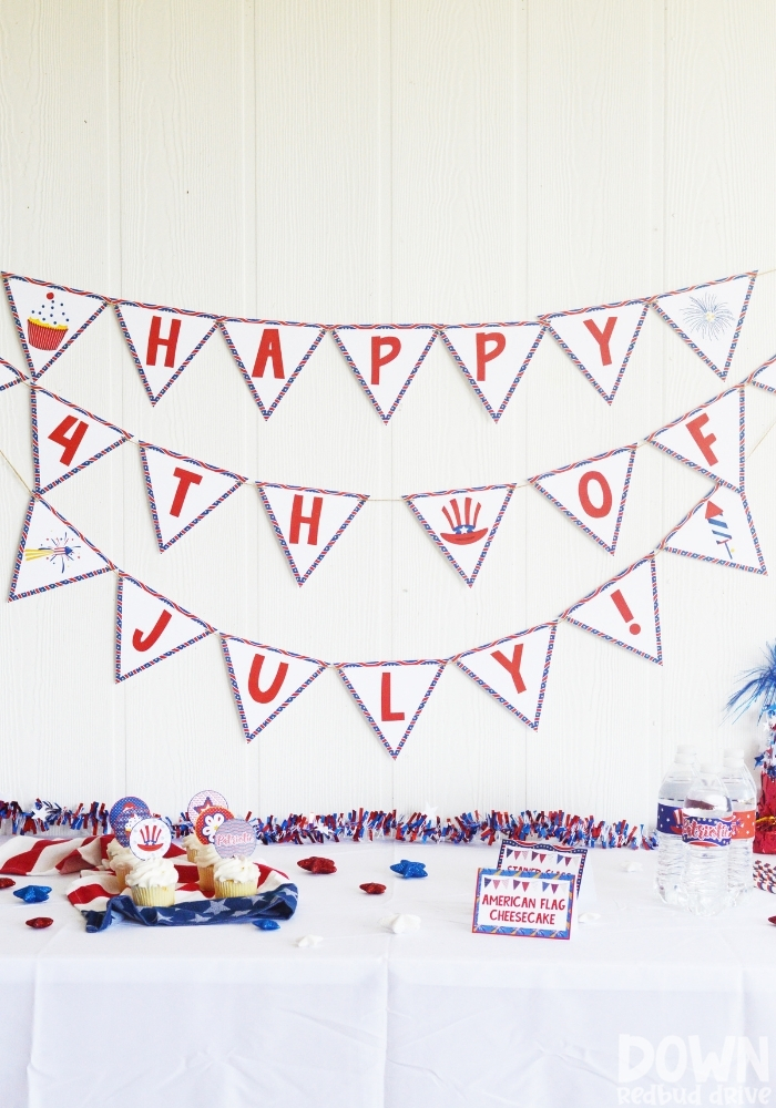 DIY 4th of July Party Decorations Featured Image