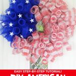 DIY American Flag Mesh Wreath