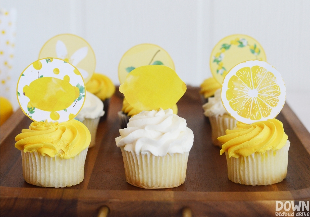 The cupcake toppers from the DIY Lemon Baby Shower.