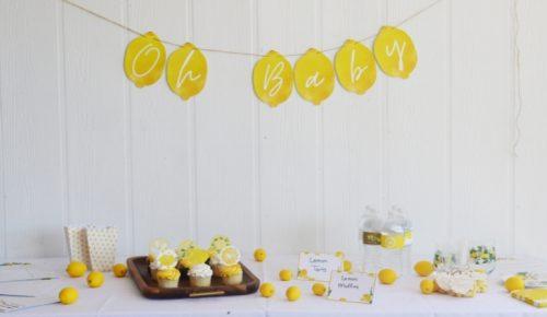 DIY Lemon Baby Shower featured image