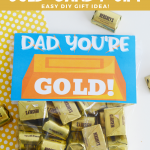 DIY Father's Day Gold Candy Gift