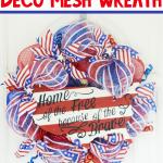DIY Patriotic Deco Mesh Wreath