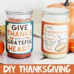 DIY Thanksgiving candles