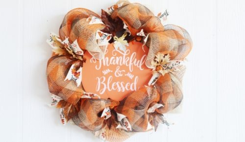 DIY Thanksgiving Mesh Wreath featured image