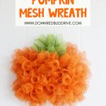 DIY Mesh Pumpkin Wreath